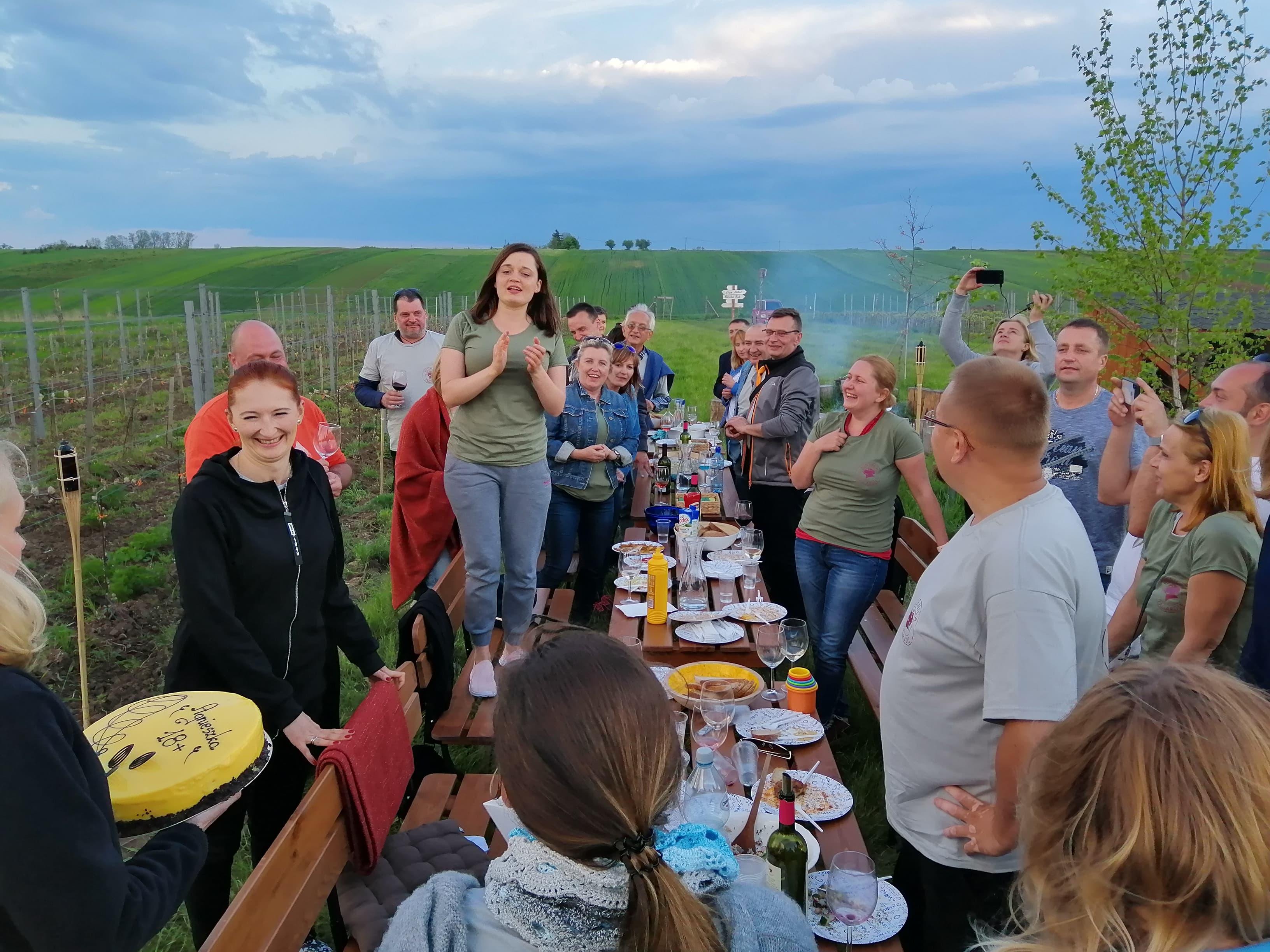 impreza urodzinowa w winnicy, winnica nieopodal Krakowa